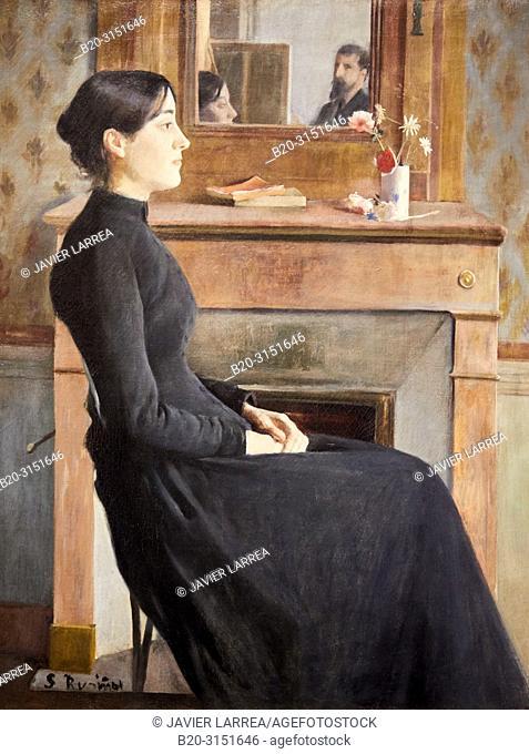 """""""Female Figure"""", 1894, Santiago Rusiñol, National Museum of Catalan Art, Museu Nacional d Art de Catalunya, MNAC, Barcelona, Spain, Europe"