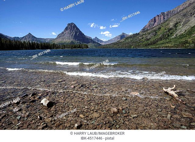 Two Medicine Lake in front of Sinopah Mountain, Glacier National Park, Montana, USA
