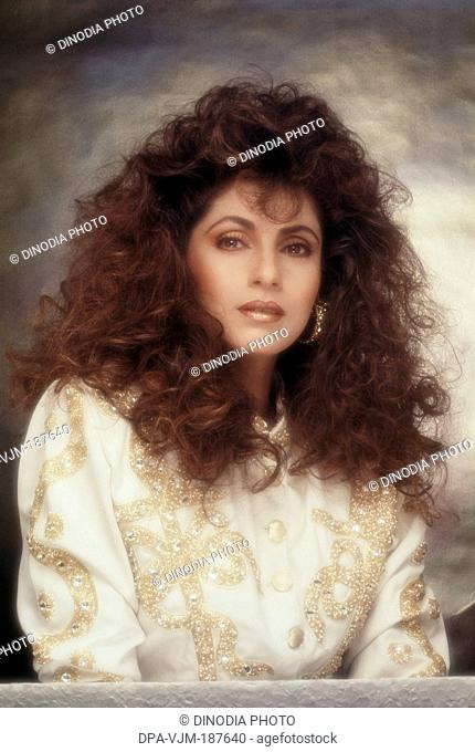 1991, Portrait of Indian film actress Dimple Kapadia