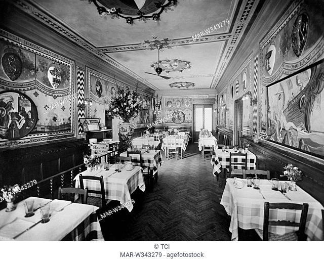 taverna dei ghiottoni, florence 1930-40