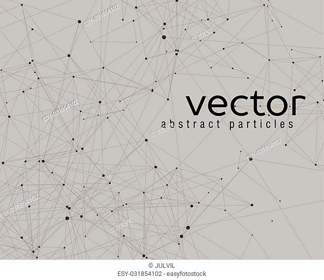 Vector element of abstract cybernetic particles on grey background