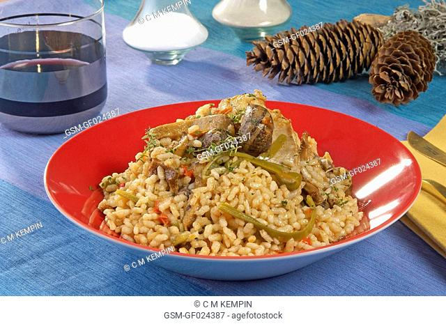 Paella rice made with preserves