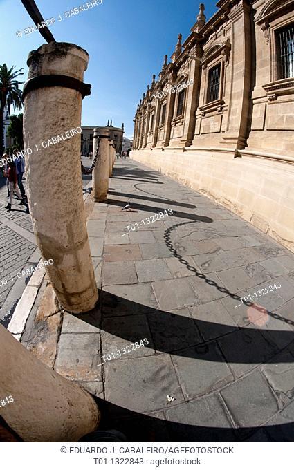 Fish eye  Seville's historic center