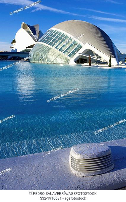 City of Arts and Sciences, designed by Valencian architect Santiago Calatrava, offers a wide range of music and cultural events  Valencia, Spain