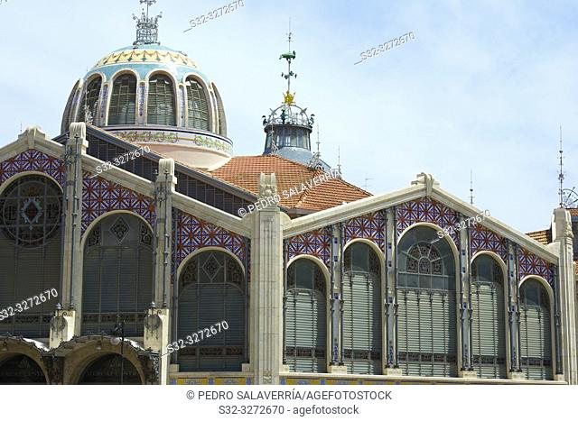 Valencia's central market in Spain