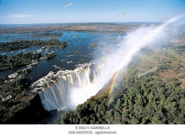 Zambia - Mosi-oa-Tunya National Park - Victoria Falls, UNESCO's World Heritage Site,1989 - Rainbow