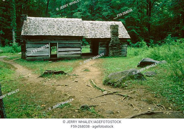 Ephraim boles cabin. Great Smoky Mountains National Park. Tennessee. USA