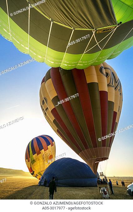 Balloon trip between Haro and Casalarreina. La Rioja. Spain