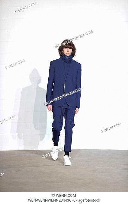 New York Fashion Week Men's Fall/Winter 2016 - The Public School - Runway Featuring: Model Where: New York, New York, United States When: 02 Feb 2016 Credit:...