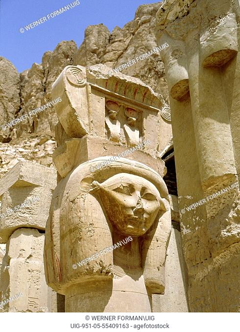 Sculptural detail from the temple of Queen Hatshepsut at Deir el-Bahari