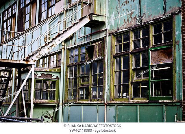 Abandoned industrial building, Cockatoo Island, Sydney, Australia