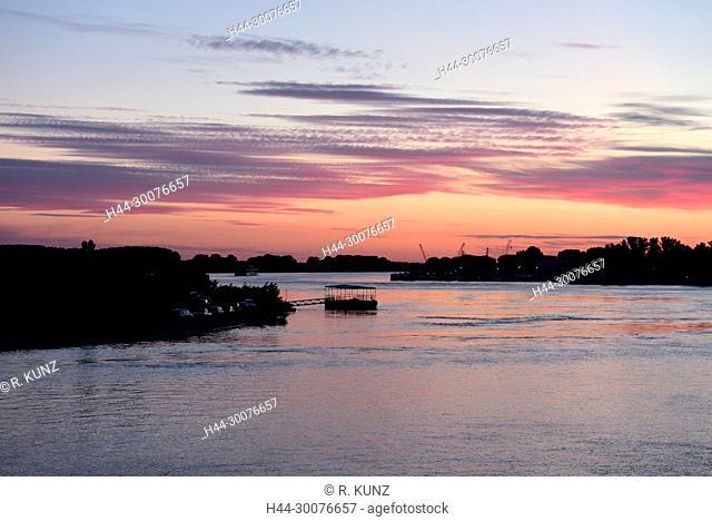 Danube, near Tulcea, at dawn, delta of Danube, Romania