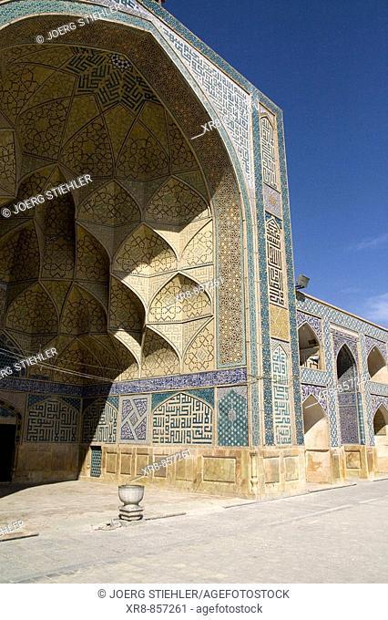 Iran Esfahan Masdjeh-e Djameh Mosque westside Iwan