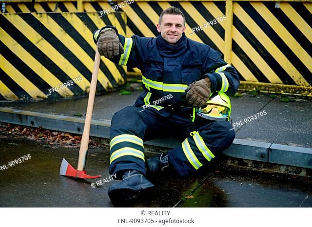 Portrait of a fireman
