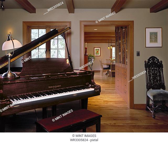 Grand Piano in a Home