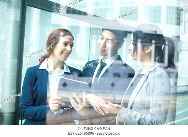 Business people meeting inside office