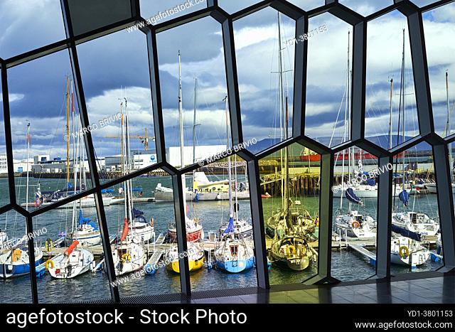 The harbour of Reykjavik. Iceland