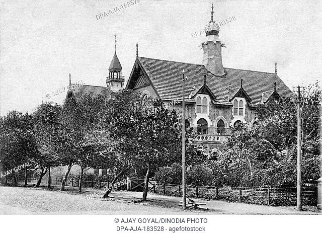 old vintage photo of wilson college mumbai maharashtra India