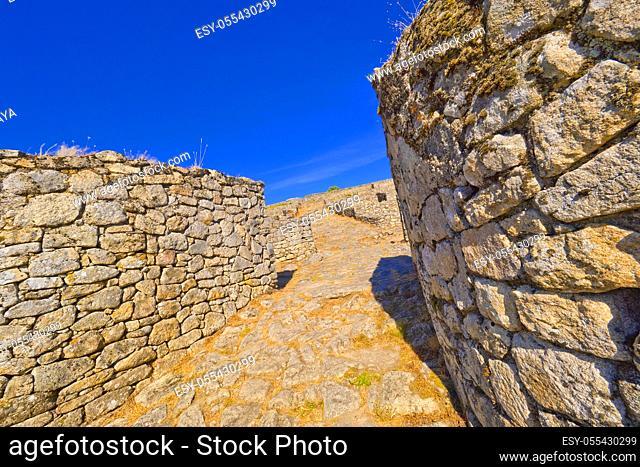 Castro de San Cibrao de Las, Hillfort Culture Archaeological Park Lansbrica, A Cidade, Lambrica, Pungín, San Amaro, Orense, Galicia, Spain, Europe