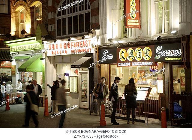 UK, Britain, England, London, Chinatown, Gerrard Street