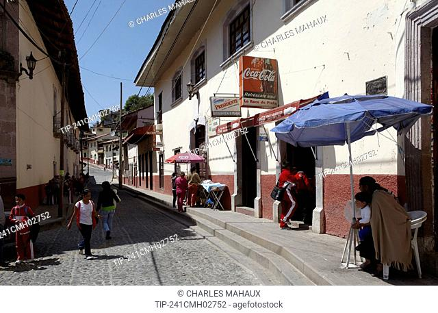 America, Mexico, Michoacán state, Angangueo village