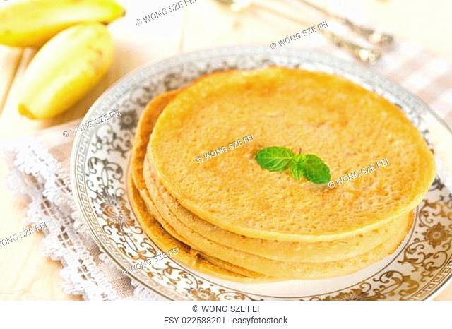 homemade banana pancake