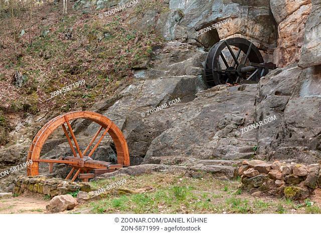 Wasserräder der Regensteinmühle bei Blankenburg Harz