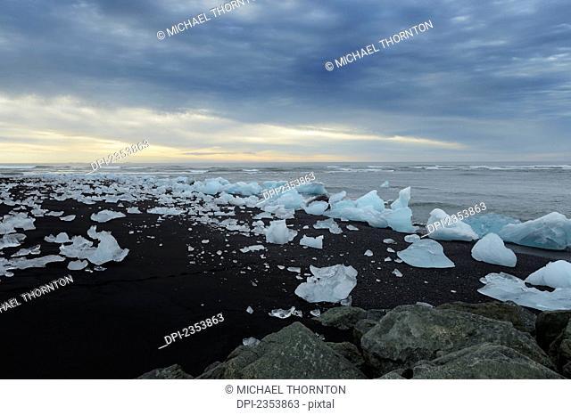 Glacial Lagoon; Jokulsarlon, Austur-Skaftrafellssysla, Iceland