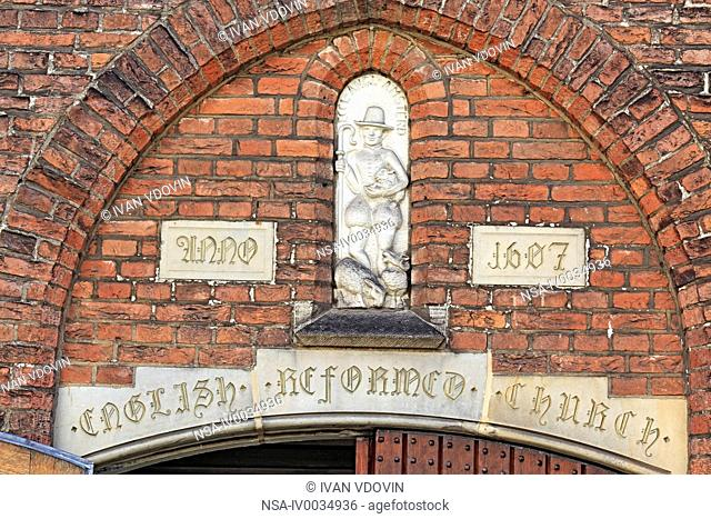 Facade of English Reformed church, Amsterdam, Netherlands