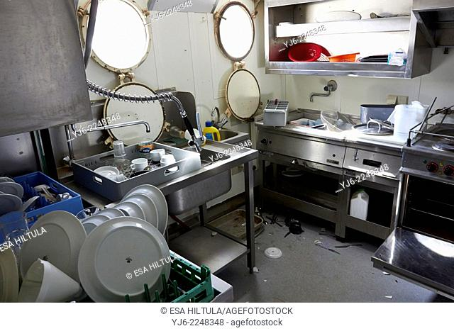 abandoned cruise ship kitchen