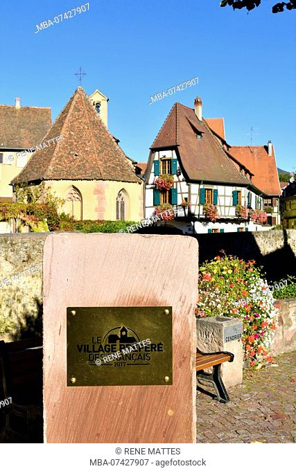 France, Haut Rhin, Alsace Wine Road, Kaysersberg, favorite French village 2017