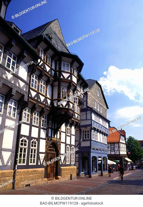 Germany, Muenzstrasse in Goslar