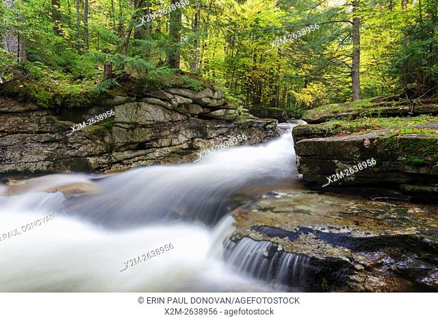 Cascade along the South Branch of the Gale River in the New Hampshire White Mountains