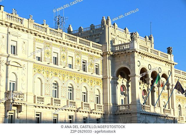 Piazza Unita de Italia Main square in Trieste Italy