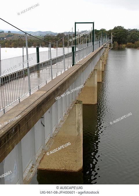Old railway bridge on the old railway line to Mansfield, Australia