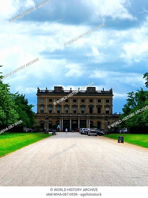 Cliveden, an Italianate mansion and estate at Taplow, Buckinghamshire, England. As home of Nancy Astor, the house was the meeting place of the Cliveden set of...