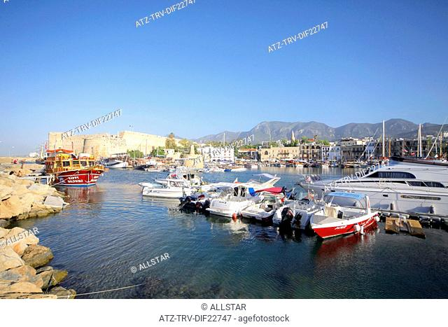 BOATS IN HARBOUR; KYRENIA, NORTHERN CYPRUS; 25/05/2013