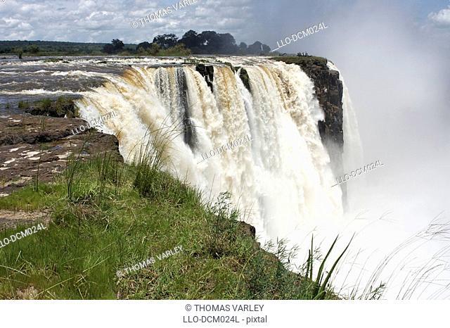 Main Falls from Cataract Island, Victoria Falls, Matabeleland North, Zimbabwe