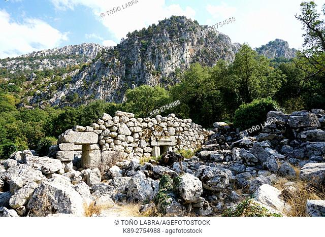 Adrian's Temple of Termessos. The unexcavated Pisidian city. Ancient Greece. Asia Minor. Turkey