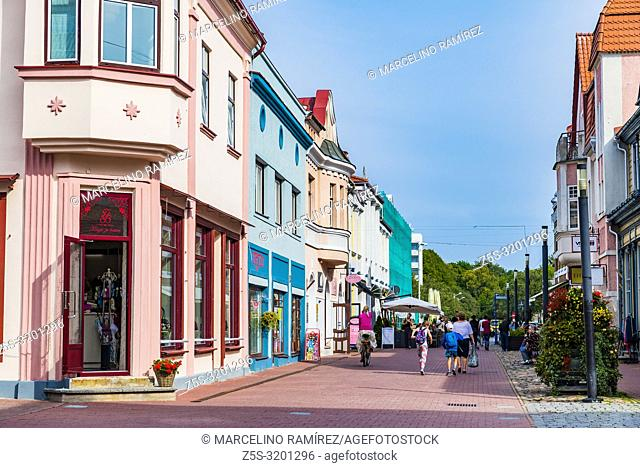The ultimate summer holiday destination in Estonia. Street of Parnu - Pärnu - , Pärnu County, Estonia, Baltic states, Europe