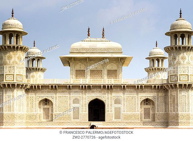 Facade of the I'timad-ud-Daulah tomb. Agra, Uttar Pradesh. India