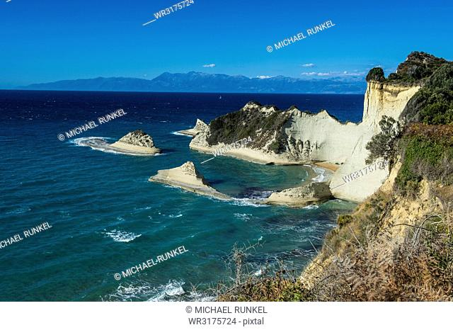 Most northern point Cape Drastis, Corfu, Ionian Islands, Greek Islands, Greece, Europe