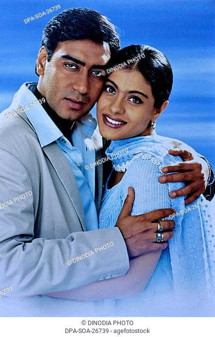 picture of kajol and ajay devgan ; film posters ; India
