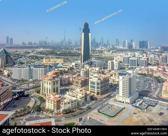 aerial view of Dubai in the United Arab Emirates