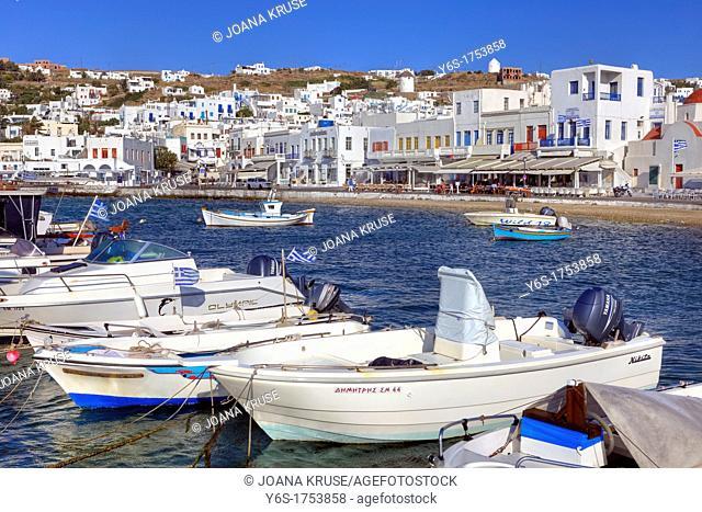 old port of Mykonos Town, Greece