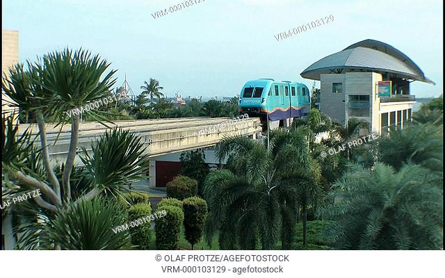 Sentosa Island Monorail Train at the Beach Station, Singapore