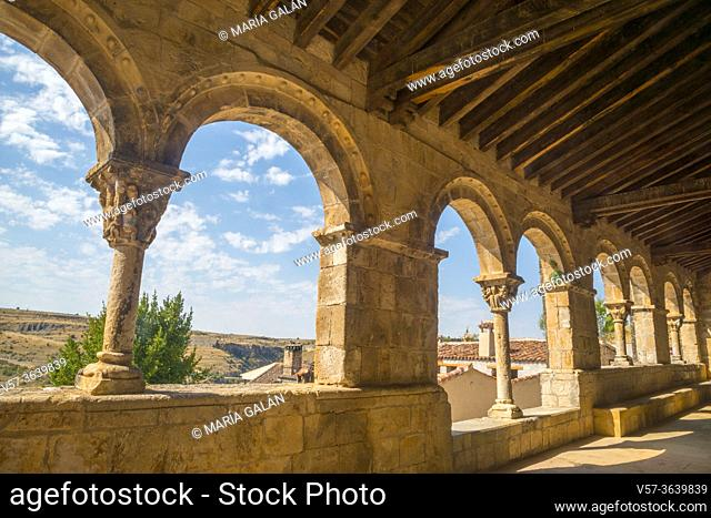 Atrium of El Salvador church. Sepulveda, Segovia province, Castilla Leon, Spain