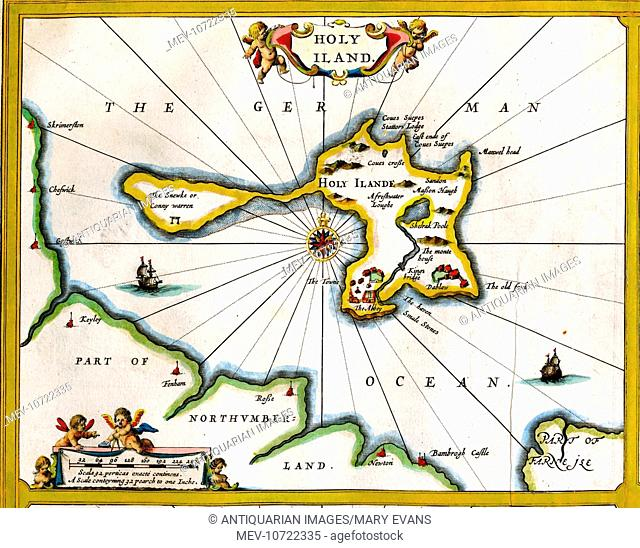 17th century Map of Holy Island