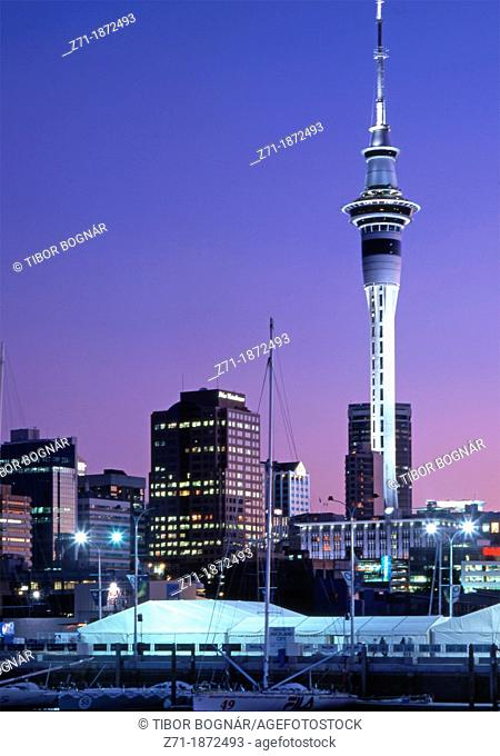 New Zealand, Auckland, skyline, harbor