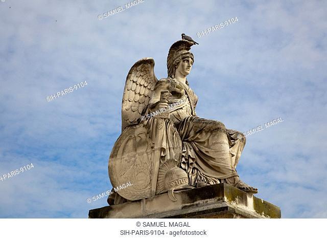 France, Paris, Statue of the Goddess Athena